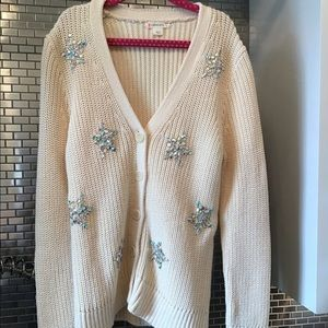 J Crew Crewcuts Cardigan with Gem Embellishments